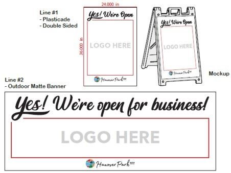 sandwich board sign photos