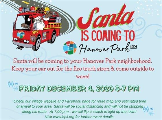 Santa Coming to Hanover Park graphic