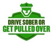 drive sober get pulled over logo