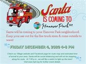 Santa Coming to Hanover Park graphic