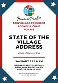 Mayor Craig's State of the Village Flyer