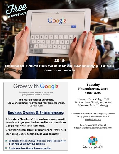 2019 Business Education Seminar on Technology Flyer