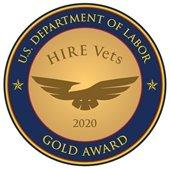 U.S. Department of Laobr Hire Vets 2020 Gold Award