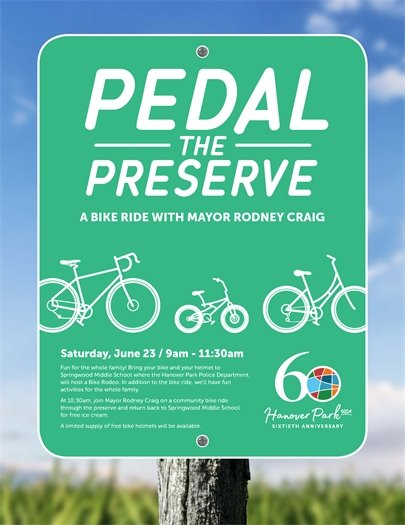 Ad for Pedal the Preserve