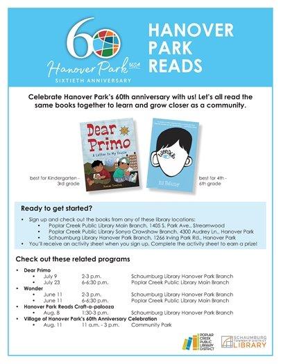 Hanover Park Reads Flyer