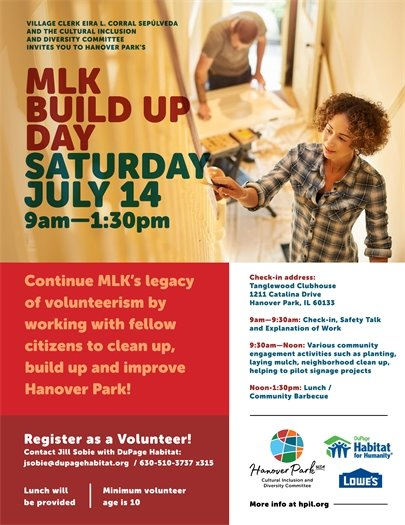 MLK Build Up Day Poster