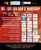 flyer for We-GEC job fair and workshop