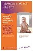 Village Blood Drive Flyer