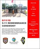 9-11 Remembrance Ceremony Flyer