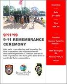 9-11 Remembrance Ceremony Flyer