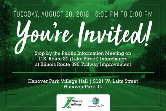 Invitation to public meeting on Rt. 20 Interchange at I390 Tollway Improvements