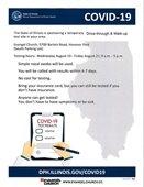 Evangel COVID Testing Flyer
