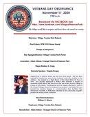 Veterans Observance Flyer