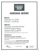 US Census Hiring Event Flyer