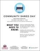 Community Shred Day Flyer
