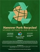 Hanover Park Recycling Event Flyer