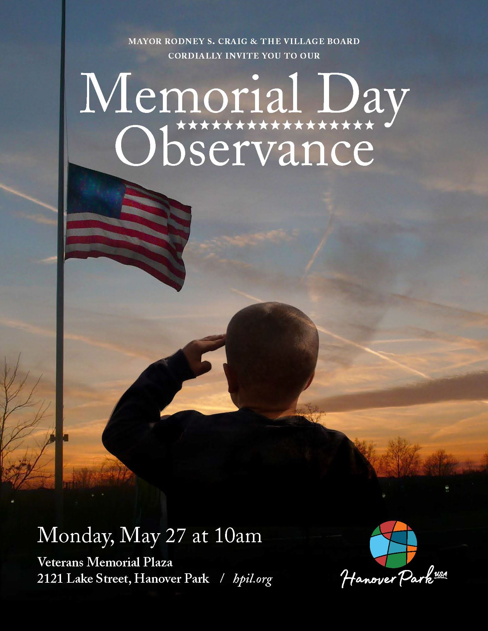 Memorial Day Observance Ceremony Flyer