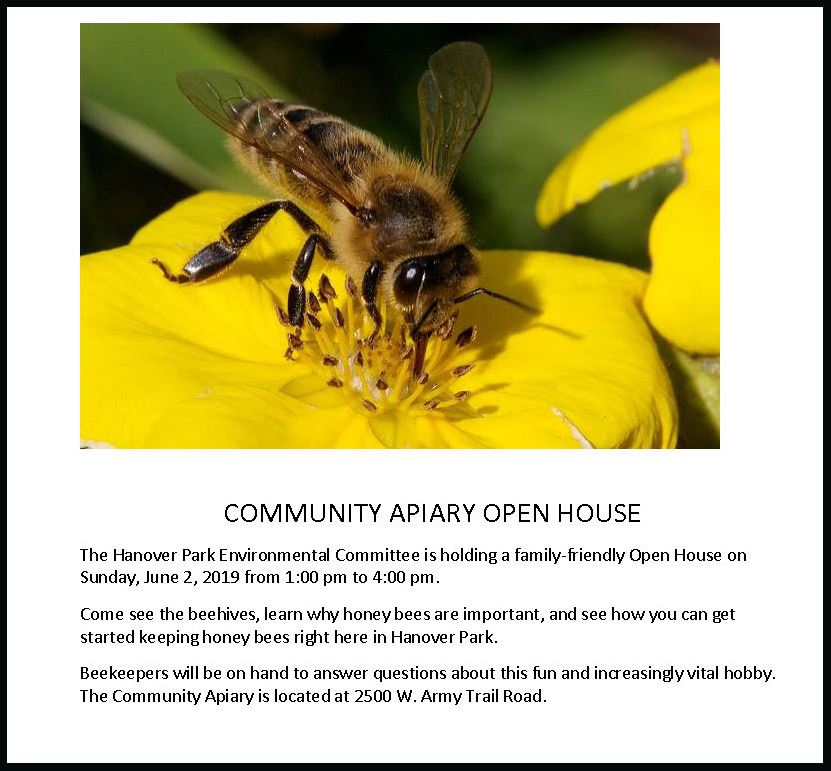 2019 COMMUNITY APIARY OPEN HOUSE