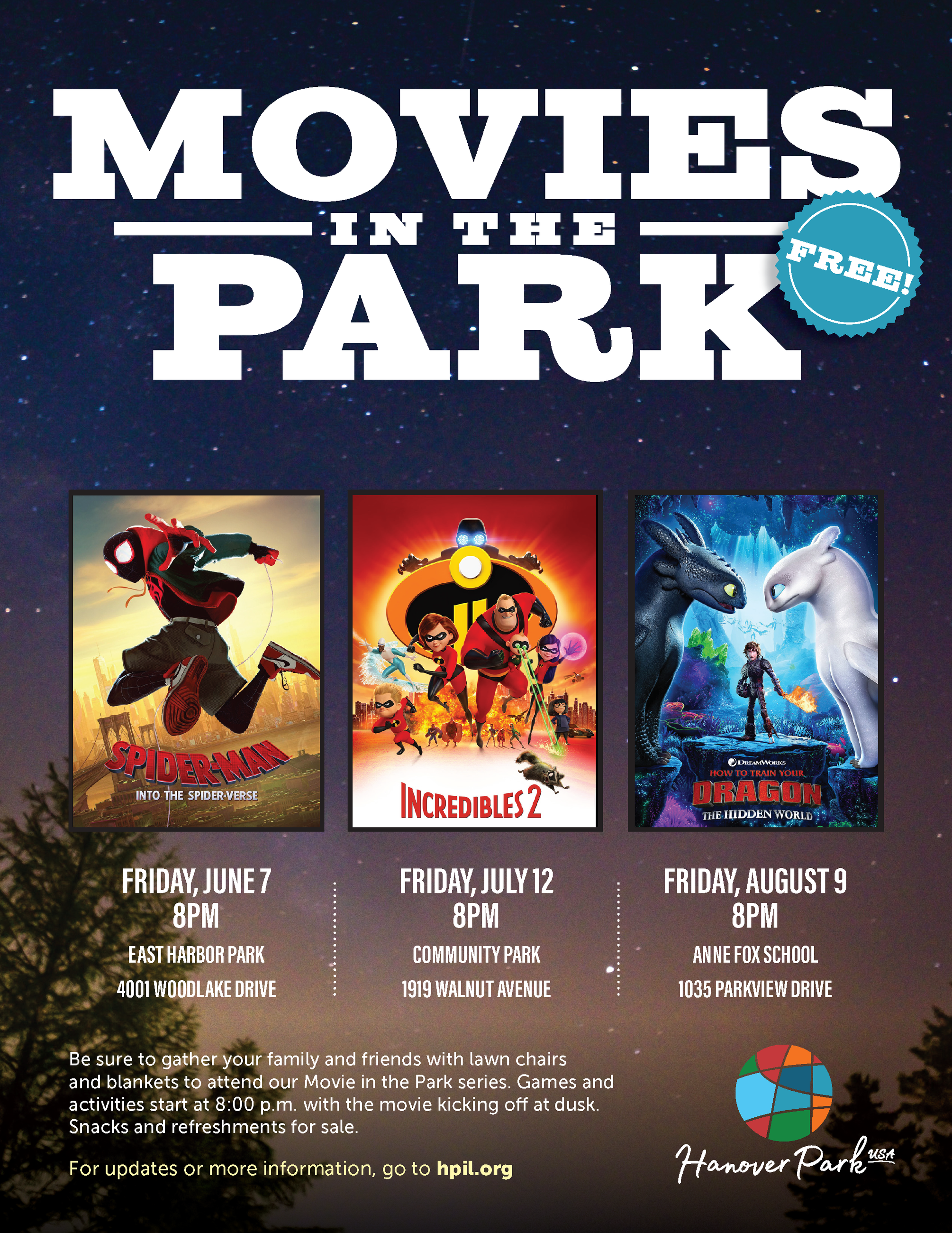 Movie in the Park flyer