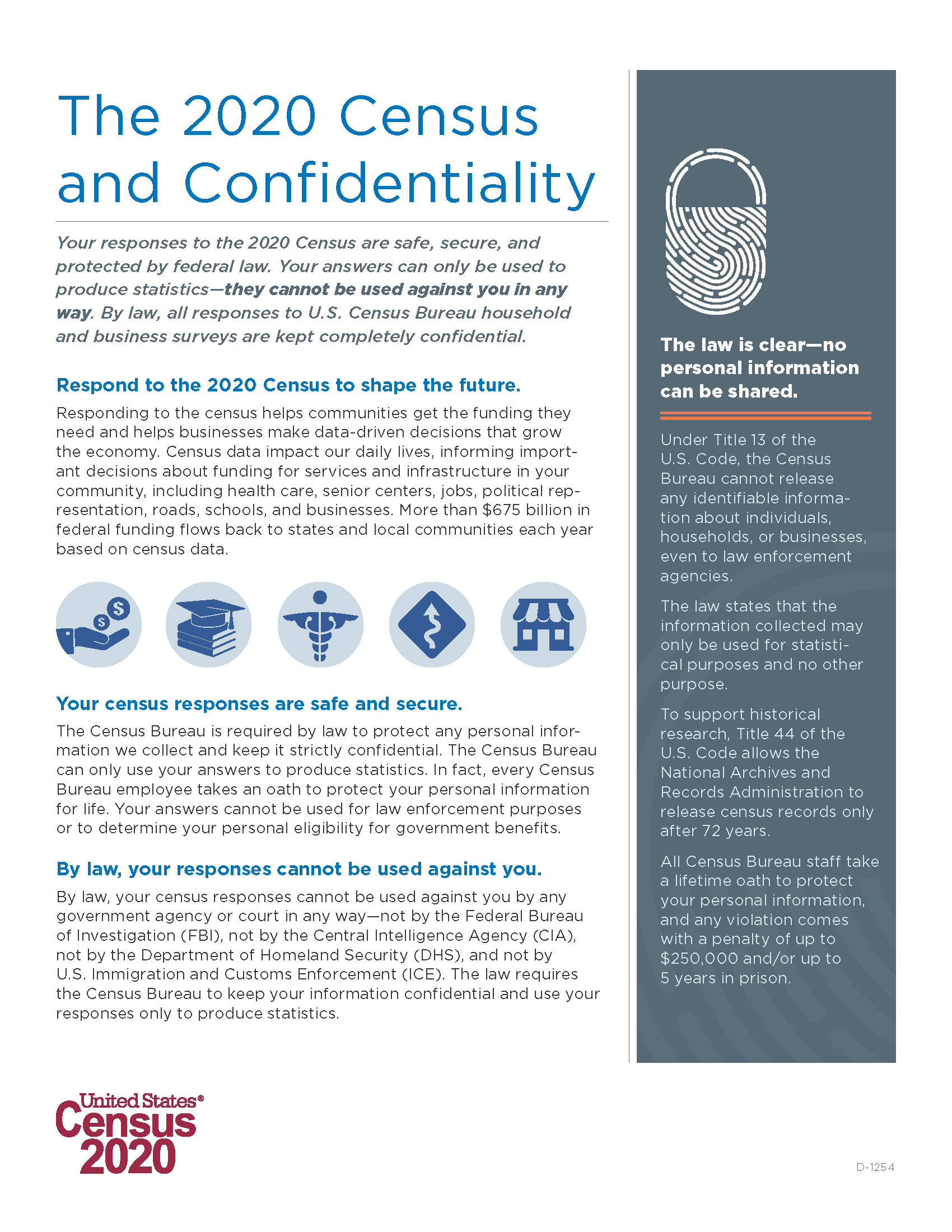 2020 Census confidentiality factsheet Page 1