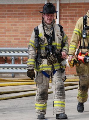 Chief Craig Haigh in Firefighting Gear